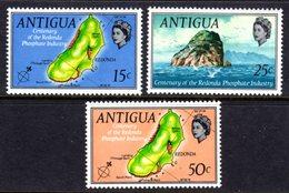 ANTIGUA - 1969 REDONDA PHOSPHATE INDUSTRY ANNIVERSARY SET (3V) FINE MNH ** SG 249-251 - Antigua & Barbuda (...-1981)