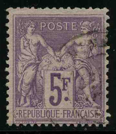 FRANCE - YT 95 F - TYPE SAGE - TIMBRE OBLITERE - 1876-1898 Sage (Type II)