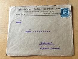 FL3525 Bayern 1920 Brief Von Schweinfurt Nach Reckendorf - Bavière