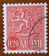 1963/1977 FINLANDIA Stemmi Araldici Leone Lion Type II - 0,20mk Usato - Oblitérés