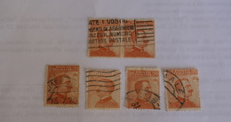 ITALIA REGNO - 1925, CENT 20,  6 VALORI USATI VF - Oblitérés