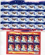 FINLAND 2002 Christmas Sheetlets MNH / **.  Michel 1627-28 - Blocs-feuillets