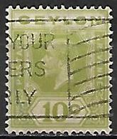CEYLAN      -    1921 .  Y&T N° 210 Oblitéré - Ceylan (...-1947)