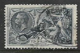 Great Britain GVR, 1934, 10/= Blue, Re-engraved, Used, Oval Registration Date Stamp, Clipped Perforations - 1902-1951 (Rois)