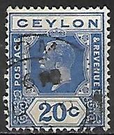 CEYLAN      -    1921 .  Y&T N° 214 Oblitéré - Ceylan (...-1947)