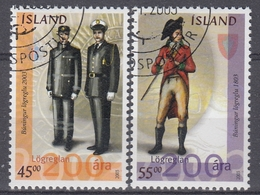 +Iceland 2003. Police In Iceland 200 Years. Uniforms. AFA 1011-12.  Cancelled - Oblitérés