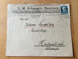 FL3525 Bayern 1920 Brief Von Bamberg Nach Reckendorf - Bavière