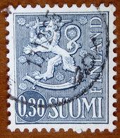 1963/1974 FINLANDIA Stemmi Araldici Leone Lion Type II - 0,30mk Usato - Oblitérés