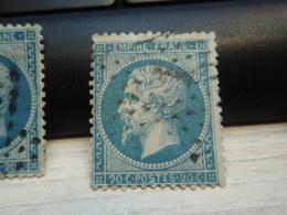 Timbre Napoléon III 20 C - EMPIRE FRANC  N° 22 Oblitéré. Chiffre1. - 1862 Napoléon III