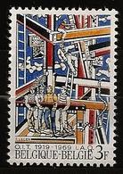 Belgique Belgie 1969 N° 1497 ** OIT, Travail, Tableau, Les Constructeurs, Fernand Léger, Cubisme, Échafaudage, Echelle - Neufs