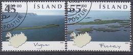 +Iceland 2002. Small Islands. AFA 1005-06.  Cancelled - Oblitérés