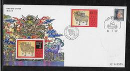 Hong Kong - Enveloppe & Feuillet - TB - 1997-... Chinese Admnistrative Region