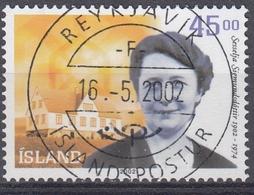 +Iceland 2002. Sigmundsdottir. AFA 996.  Cancelled - Oblitérés