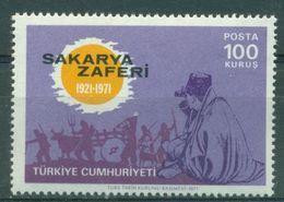 AC - TURKEY STAMP - 50th ANNIVERSARY OF SAKARYA VICTORY ATATURK MNH 13 SEPTEMBER 1971 - 1921-... Republiek