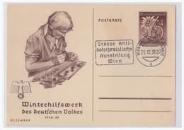 Dt.- Reich (000958) Propaganda Ganzsache P274/ 03, Dezember, Blanco Gestempelt Wien Nordwestbahnhalle, Mit Werbestempel - Germany