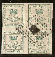 España Edifil 130 (º)  4/4 Cuartos Verde  Corona Mural Y Alegoría 1873  NL1238 - 1872-73 Reino: Amadeo I