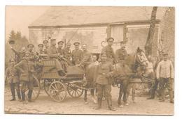 Militaires -  1914 / 1918 - Attelage -  Soldats Allemands  - Carte Photo - CPA° - Guerre 1914-18