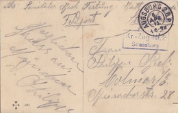 CP N° 633 (Picknick Auf Der Alm) En FM Obl Augsburg 2BP Le 6Apr15 Pour Colmar + Kr-Zug N°2 Strassburg - Germany