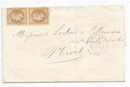 - CHARENTE - ROYAN  GC.3233 S/Paire TP Napoleon Lauré N°28+ Càd T.17 - 1871 - 1863-1870 Napoléon III Lauré