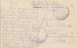 CP N° (Ortseingang Von Authe 1916) En FM Obl XVI Armeekorps Le 13/3/16 Pour Wilkingen + Res.Armeekorps - Germany