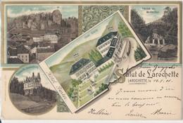 Luxembourg Salut De Larochette  Hôtel Ginter  Voyagé 1901 Très Bel état - Larochette