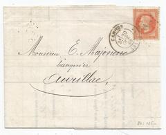 - LOT - CAHORS GC.693 S/TP Napoleon Lauré N°31 + Càd T.17 - 1869 - 1863-1870 Napoléon III Lauré