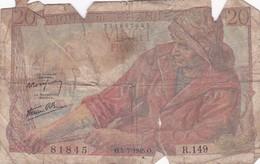 20 Francs 1945 - 20 F 1942-1950 ''Pêcheur''