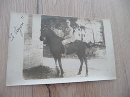 Carte Photo Militaire Militaria Officier Cheval - Guerre 1914-18