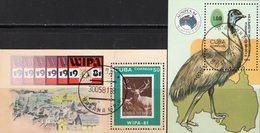 Expo WIPA 1981 Kuba Blocks 67+85 O 8€ Hirsch Laufvogel Emu Bloque M/s Hoja Fauna Blocs Ss Philatelic Sheets Bf Cuba - Philatelic Exhibitions