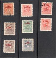 Grèce,année 1938-42 (timbre Taxe De 1912-1930)N° 31*,33*,37*,31,34,35,36,38,oblitérés - Neufs