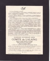 OOSTKAMP Maximilien Comte De LALAING Boulogne Sur Mer 1869 Oostcamp 1943 Rite Anglican British Military Medal 14-18 - Todesanzeige