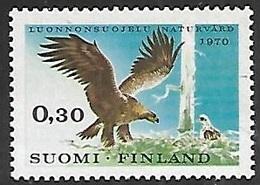 Finland   1970   Sc#490  Golden Eagle   MNH   2016 Scott Value $4 - Unused Stamps