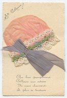 CPA.bonnet St Catherine Tissu En Soie Rose Vert Mauve,dentelle Blanche             .E.78 - Sint Catharina