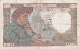 50 Francs 1942 L - 50 F 1940-1942 ''Jacques Coeur''