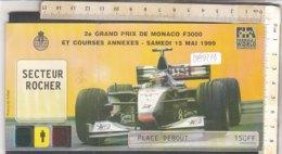 PO8977D# BIGLIETTO GRAND PRIX DI MONACO 1999 - FORMULA 1 AUTOMOBILISMO - Automobile - F1