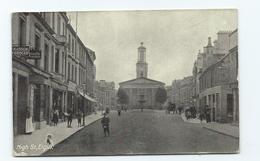Postcard  Scotland Elgin Moray High Street Posted 1917 . - Moray
