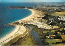 56 - Arzon - La Plage Et Les Campings De Kerjouanno - Au Loin, L'entrée Du Golfe Du Morbihan - Vue Aérienne - Arzon