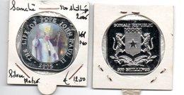 SOMALIE 500 SHILLINGS 2005 SILVERED PROOFLIKE THE LIFE OF POPE JOHN PAUL II - 10 - - Somalia