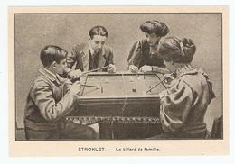 COUPURE De PRESSE JEU D'INTÉRIEUR DÉBUT XX ème SIECLE ANNÉE 1908 - STROKLET LE BILLARD De FAMILLE - Billard