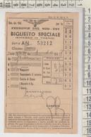 Biglietto Ticket Buillet Ferrovie Del Sud Est Biglietto Speciale - Treni