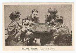 COUPURE De PRESSE JEU D'INTÉRIEUR DÉBUT XX ème SIECLE ANNÉE 1908 - BILLARD NICOLAS LA CHASSE à La BILLE - Billard