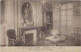 76 Aumale  Institution  Saint Joseph  Parloir Et Bureau  De Mr Le Directeur - Aumale