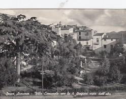 SESSA AURUNCA-CASERTA-VILLA COMUNALE CON LE 4 STAGIONI VISTA DALL'ALTO-CARTOLINA VERA FOTOGRAFIA VIAGGIATA IL 15-9-1956 - Caserta