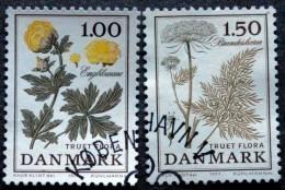 Denmark 1977 Flowers  Minr.653-54 ( O) ( Lot  Ks 647 ) - Used Stamps