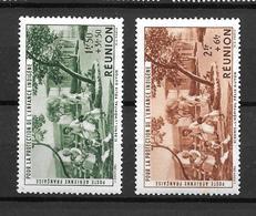 1942 France Réunion / Protection Enfance Indigène / YT PA7 PA8  PA9 / MNH* - Poste Aérienne