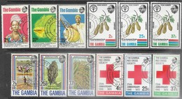 Gambia   1972-3   4 Diff Sets Used 2016 Scott Value $3.30 Mandingo Studies, Freedom From Hunger, Agriculture, Red Cross - Gambia (1965-...)