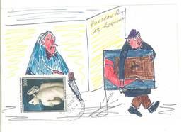 Enveloppe ART POSTAL - MAIL ART - Dessin A La Main  - Humour - Beau Cachet De CABANNES   (8 ASO) - Oblitérés