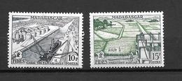 1956 France Madagascar / Fides / YT 329 330  / MNH* - Neufs