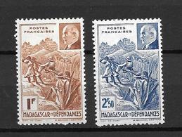 1941 -  France Madagascar / Petain / YT 229 230 / MNH* - Neufs