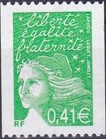 France Marianne De Luquet Roulette N° Noir Au Verso N° 3458b Année 2002 Neuf** - France